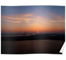 Sunrise in Europort... Poster