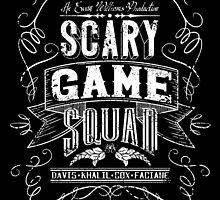 Scary Game Squad Logo (Official) - White by Dandimator