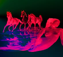 Equines in Red. by Vitta