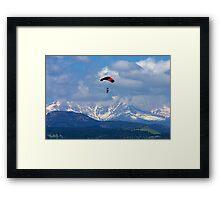 Sky Diving Framed Print
