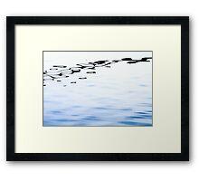 Floating Ink above Blue Fields Framed Print