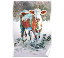 The Courage of Youth - Acrylic Cow Painting Poster