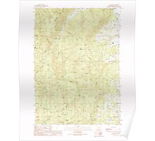 USGS Topo Map Oregon Callahan 279241 1990 24000 Poster