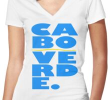 Cabo Verde Women's Fitted V-Neck T-Shirt