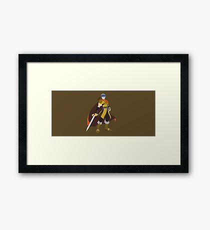 Marth (Gold) - Super Smash Bros. Framed Print
