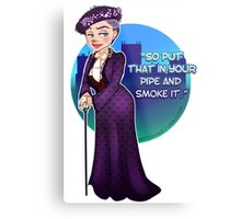 Violet Crawley, the Dowager Countess of Grantham Metal Print