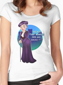 Violet Crawley, the Dowager Countess of Grantham Women's Fitted Scoop T-Shirt