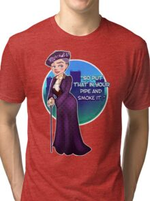 Violet Crawley, the Dowager Countess of Grantham Tri-blend T-Shirt