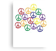 Peace Sign in all colors Canvas Print