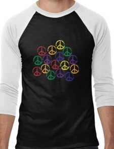 Peace Sign in all colors Men's Baseball ¾ T-Shirt