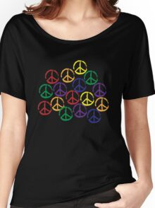 Peace Sign in all colors Women's Relaxed Fit T-Shirt