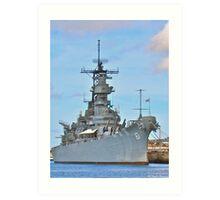 USS Missouri Art Print