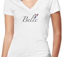 Bellissimo – French for Beautiful  Women's Fitted V-Neck T-Shirt