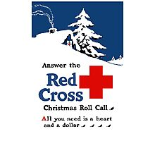 Answer The Red Cross Christmas Roll Call Photographic Print