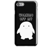 Doctor Who Working Off My Adipose  iPhone Case/Skin