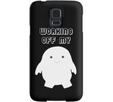 Doctor Who Working Off My Adipose Digital Art Samsung Galaxy Case/Skin