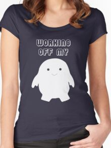 Doctor Who Working Off My Adipose  Women's Fitted Scoop T-Shirt