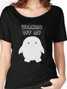 Doctor Who Working Off My Adipose  Women's Relaxed Fit T-Shirt