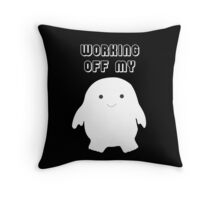 Doctor Who Working Off My Adipose  Throw Pillow