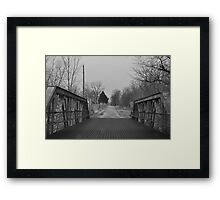 Bridge on a back road in black and white Framed Print