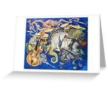 Jazz Fish Greeting Card
