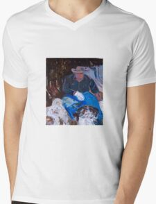 A man and his dogs . . . Melbourne, Vic, Australia Mens V-Neck T-Shirt
