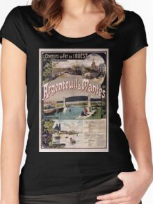 Gustave Fraipont Affiche Ouest Argenteuil Mantes Women's Fitted Scoop T-Shirt