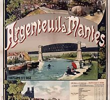 Gustave Fraipont Affiche Ouest Argenteuil Mantes by wetdryvac