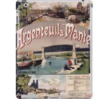 Gustave Fraipont Affiche Ouest Argenteuil Mantes iPad Case/Skin