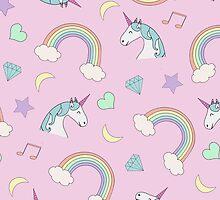 Unicorn Dream Pattern by Valeria  Leone