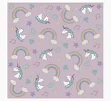 Unicorn Dream Pattern Baby Tee