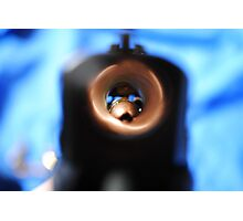 Down the Barrel of Gun Photographic Print