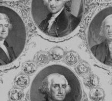 First Six U.S. Presidents Sticker