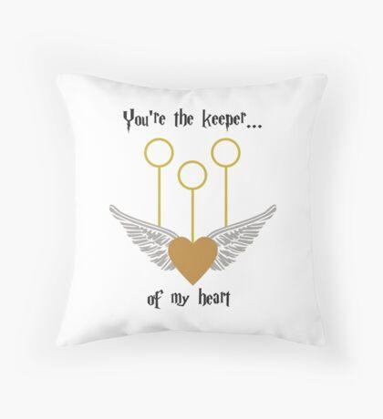 Keeper of my Heart Throw Pillow