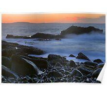 Cobblestone Coastline At Dawn Poster