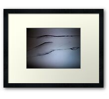 Nude Woman Laying face down relaxing Framed Print