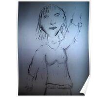 Girl waving  Poster