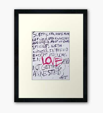 Hunter S. Thompson Quote Framed Print