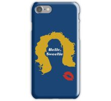 Doctor Who River Song Hello Sweetie  iPhone Case/Skin