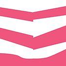 Taffyta Muttonfudge inspired pink candy stripe leggings by AdrienneOrpheus