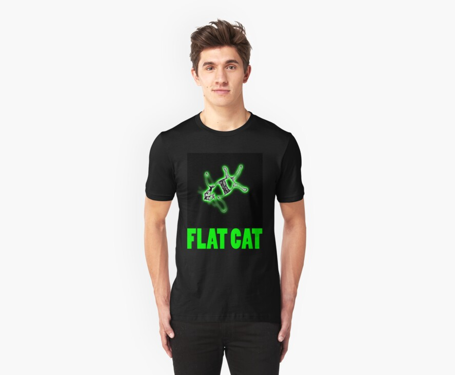 flat cat t by dedmanshootn