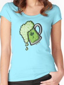 Saint Patrick's Day Glass of Beer Women's Fitted Scoop T-Shirt