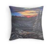 Sunset in the Smoky Mountains   Throw Pillow