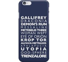 Doctor Who Subway Sign  iPhone Case/Skin