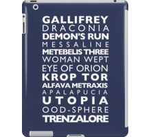 Doctor Who Subway Sign  iPad Case/Skin