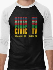 Civic TV Men's Baseball ¾ T-Shirt
