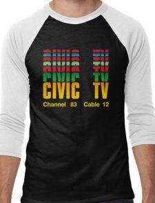 Civic TV Men's Baseball ¾ T-Shirt