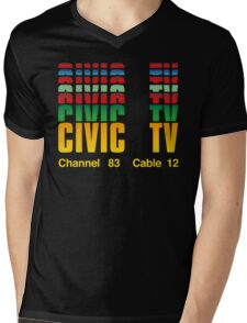 Civic TV Mens V-Neck T-Shirt