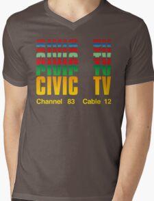 Civic TV Mens V-Neck T-Shirt