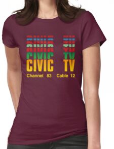 Civic TV Womens Fitted T-Shirt